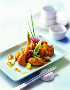 Lee Kum Kee: Hühnchen mit Frühlingszwiebeln , Zwiebeln und Austern Sauce
