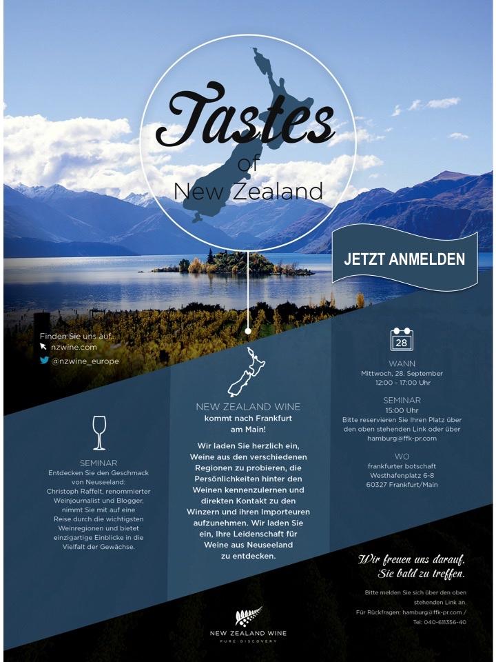 Einladung zur Fachverkostung New Zealand Wine