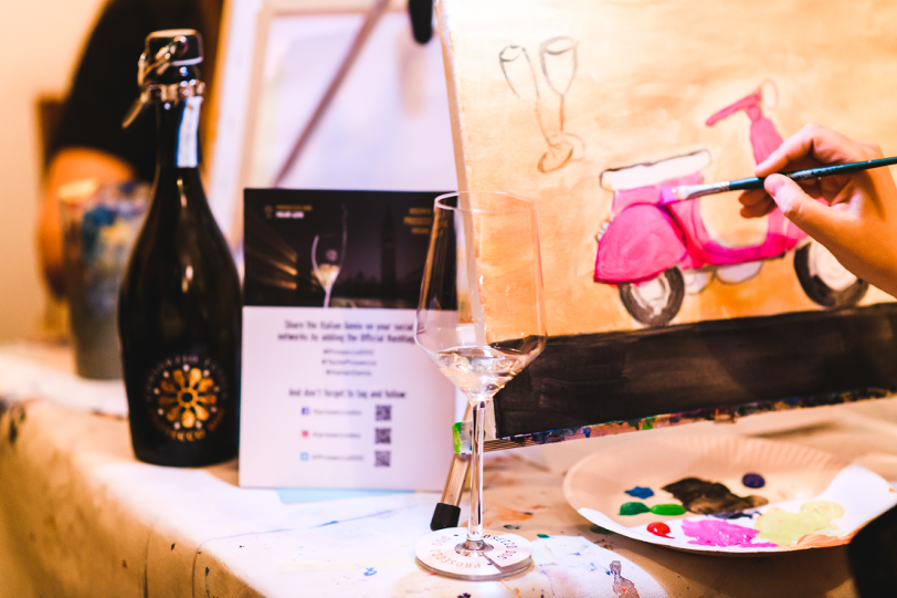 Prosecco DOC Sponsor einer Art Night