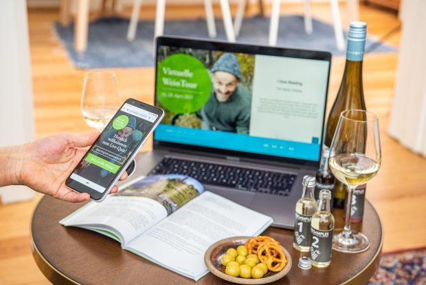Bequem von Zuhause aus Weine verkosten bei der Virtuellen WeinTour des Deutschen Weininstituts
