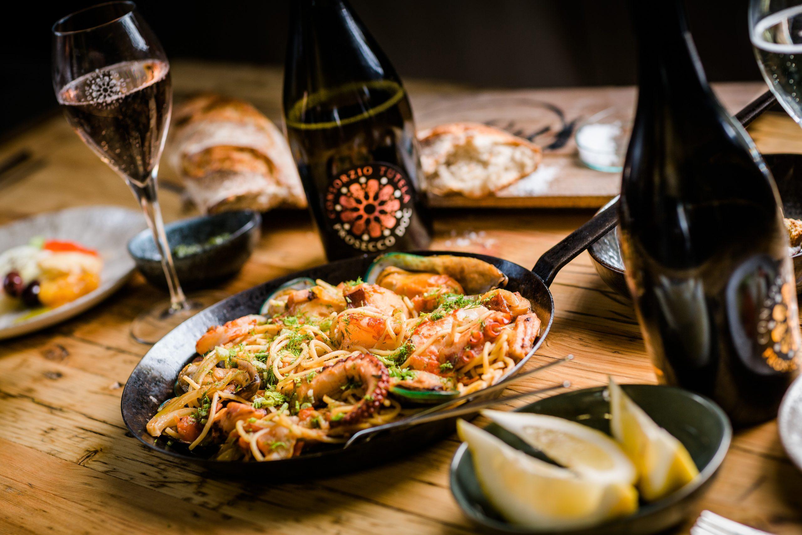 Prosecco DOC Online-Kochkurs Meeresfrüchte Pasta